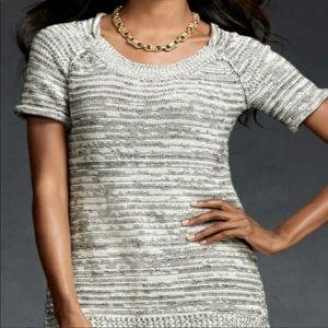 CAbi Marled Knit Short Sleeve Sweater Style 973